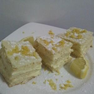 Prajitura cu crema de lamaie